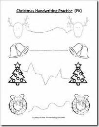 free christmas handwriting and coloring page for preschool
