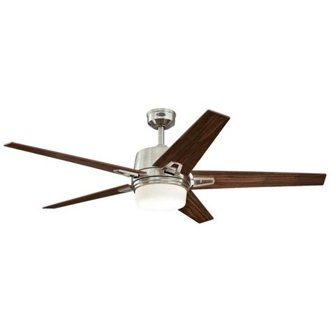 brushed nickel ceiling fan with remote westinghouse zephyr 56 in led indoor brushed nickel