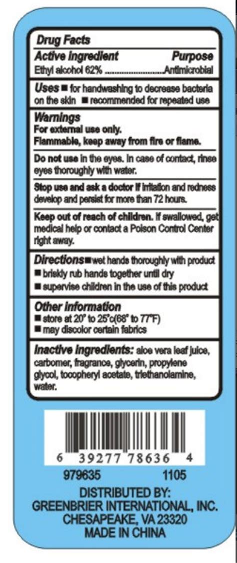 instant hand sanitizer original by core brands inc