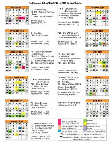 District 205 Calendar District Calendar 2016 2017 Calendar Overview