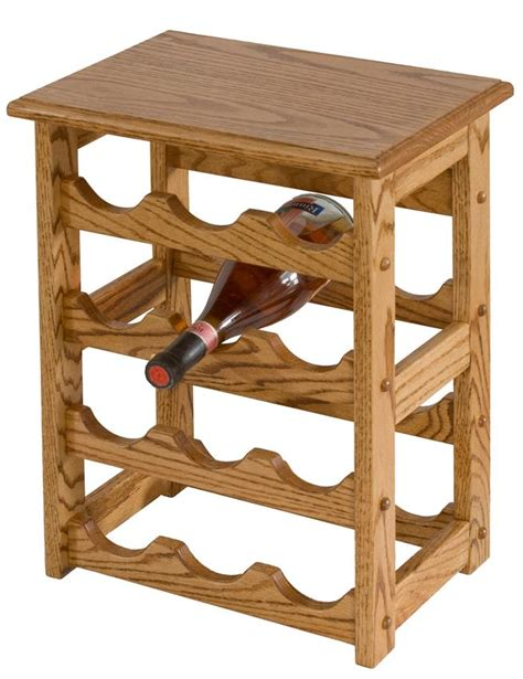 Wine And Liquor Cabinets Amish Hardwood Medium Wine Rack