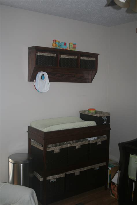 Ana White Changing Table Storage Shelf Combo Diy Projects Change Table Storage