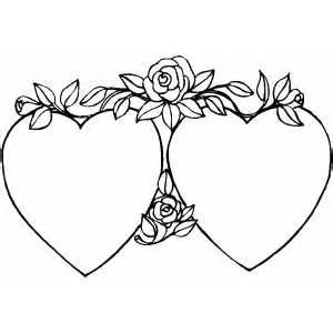hearts and stars coloring pages with rose page sketch template free