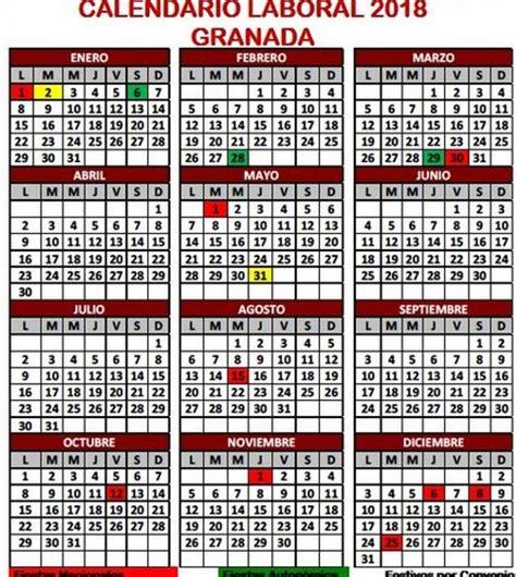Calendario 2018 Sevilla Descubre El Calendario Laboral De Granada Para 2018 Ideal