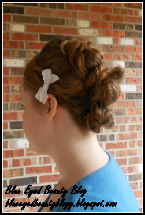 apostolic hair bangs blue eyed beauty blog hairstyle three wrapped buns