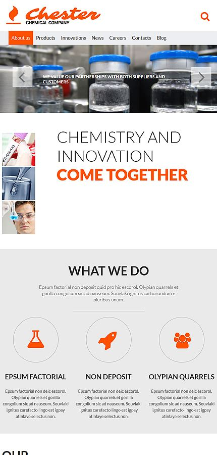Chemical Company Website Template Website Templates Chemical Website Templates