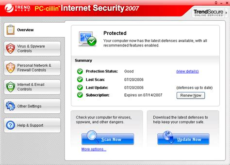 Trend Micro Internet Security Review 2010 Screenshots