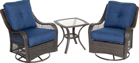 hanover orleans  piece outdoor bistro set  swivel
