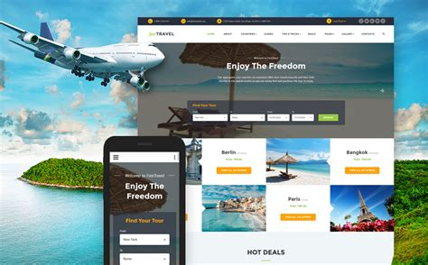 travel agency html template travel agency responsive website template 60026