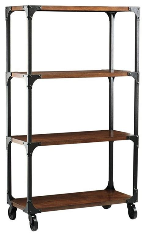 industrial empire bookcase eclectic bookcases by