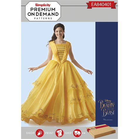 Pattern For Belle S Yellow Dress | simplicity pattern ea840401 misses disney live action