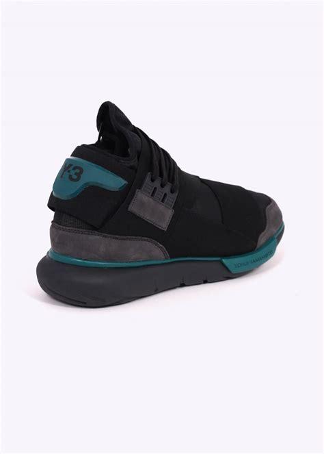 Sepatu Adidas Y3 Yohji Yamamoto y3 adidas yohji yamamoto qasa high charcoal black