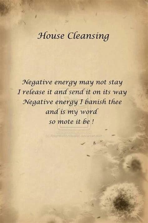 All Negative Energy Detox by House Cleansing Spell Wicca Spells Etc