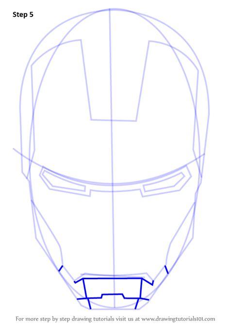learn   draw iron mans helmet iron man step