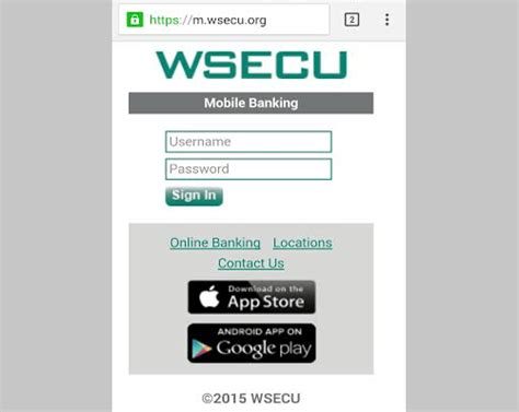 sign in mobile site wsecu banking sign in login