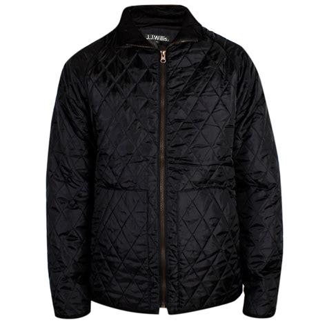 mens jj willis quilted jacket designer padded warm