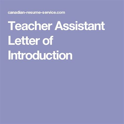 Teaching Assistant Letter Of Introduction 17 Best Ideas About Assistant On Student Behavior Hacks And