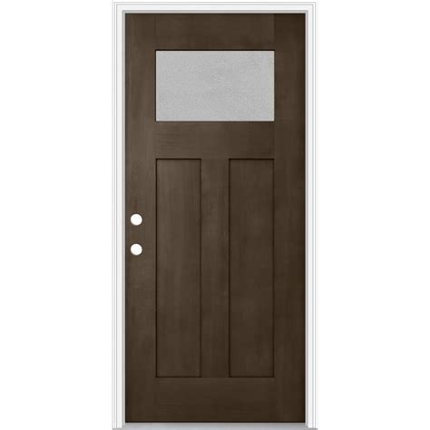 Jeld Wen Exterior Door Reviews Shop Jeld Wen Decorative Glass Right Inswing Walnut Painted Fiberglass Prehung Entry Door