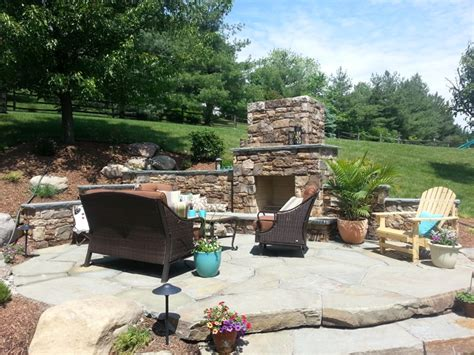 Hillside Patio by Patio Fireplace Pits In Frederick Md Poole S