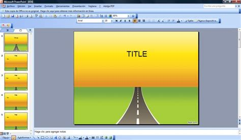 road powerpoint template