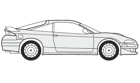 mitsubishi eclipse drawing how to draw a mitsubishi eclipse как нарисовать