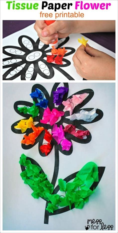 Flower Tissue Paper Craft - tissue paper crafts and paper flowers craft on