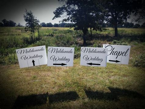 Wedding Yard Signs by Wedding Yard Sign Wedding Directional Sign Corrugated