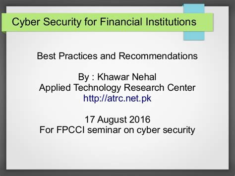 cyber security for financial institutions