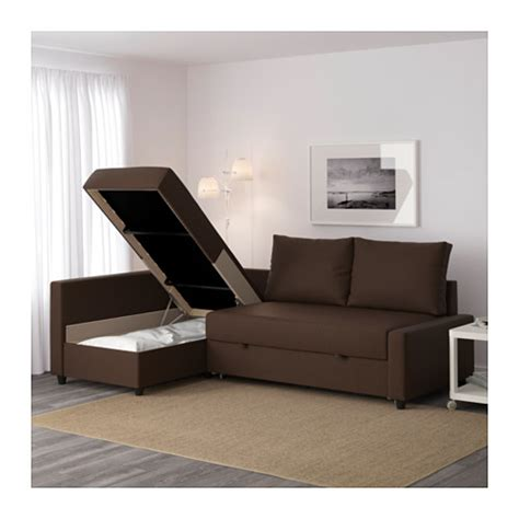 Friheten Corner Sofa Bed With Storage Skiftebo Brown Ikea Ikea Sofa Bed With Storage