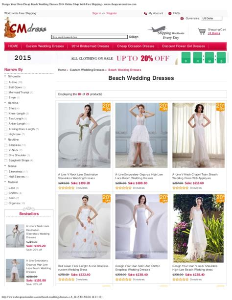 design your own shop layout design your own cheap beach wedding dresses 2014 online