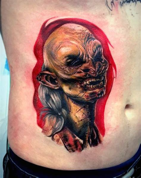 zombie bite tattoo 90 tattoos for masculine walking dead designs