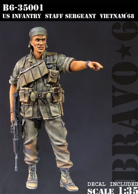 1 35 scale vietnam figures us infantry staff sergeant in vietnam 1 35 scale resin