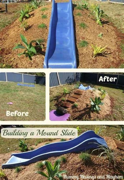diy backyard slide 25 playful diy backyard projects to surprise your kids