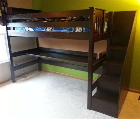 wood bunk bed with desk loft beds with desk bunk loft factory solid wood