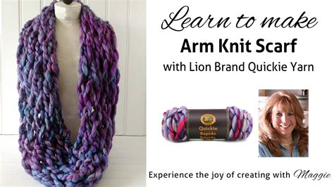 type of yarn for arm knitting arm knit scarf with brand yarn