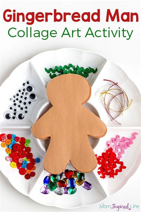 gingerbread man art activity men art art activities and