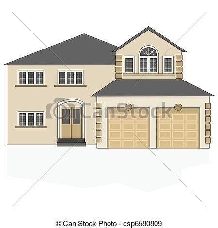 drawing of a house with garage eps vectors of suburban house illustration of a fancy