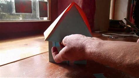 haus aus papier selber basteln haus aus papier falten basteln