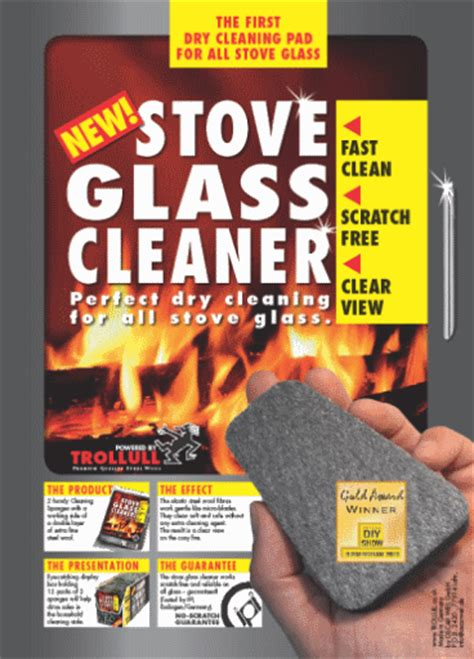 Trollull Stove Glass Cleaner Cleaning Pads X 2 For Wood