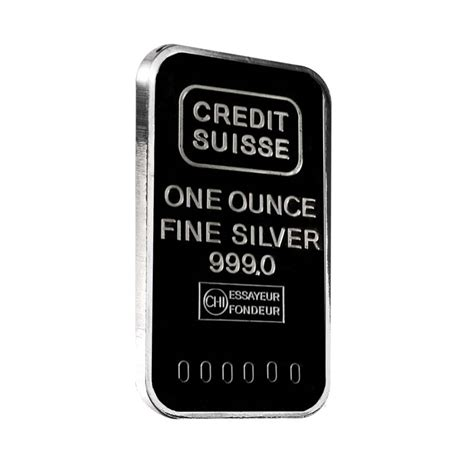 1 Oz Credit Suisse Silver Bars - 1 oz credit suisse silver bar 999 secondary market