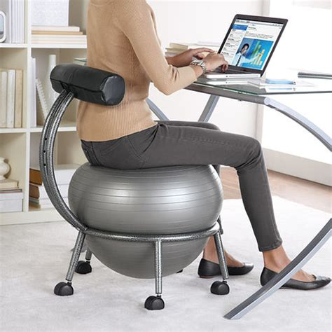 Fitball Chair by Fitball Balance Chair At Brookstone Buy Now