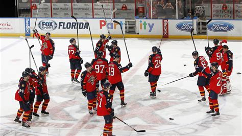florida panthers win home opener 6 3 penguins nbc 6