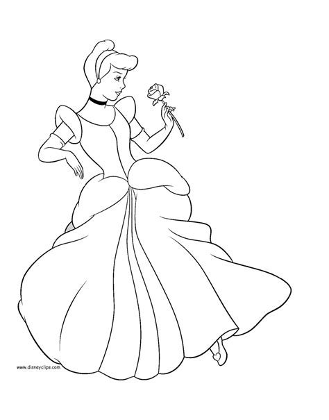Disney Cinderella Printable Coloring Pages 2 Disney Printable Cinderella Coloring Pages