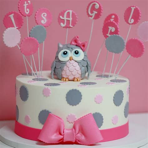 baby shower girl themes owl 25 best ideas about girl baby shower cakes on pinterest