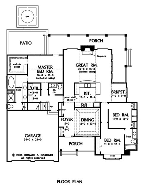 Kris Jenner House Floor Plan | home plan the jenner by donald a gardner architects