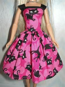 handmade 11 5 fashion doll clothes pink and black cat