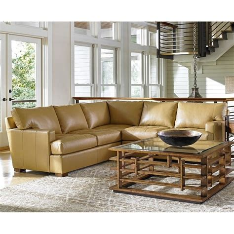 tommy bahama island fusion living room furniture tommy bahama island fusion osaka leather sectional in
