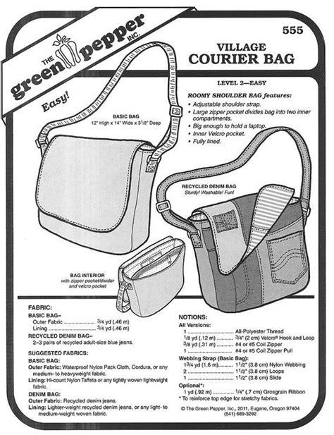 Green Pepper Sewing Pattern Upcycle Sewing Pattern Handbag