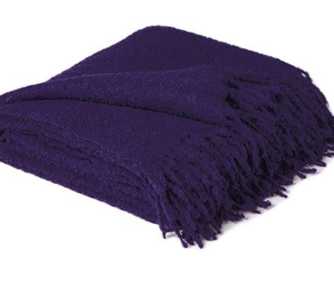 Tibetan Home Decor by Deep Purple Boucle Baby Alpaca Throw Blanket Ultimate