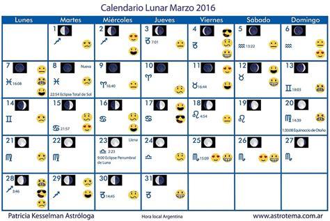 Calendario Lunar Marzo 2017 Argentina Calendario Lunar Kesselman